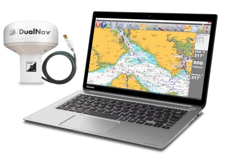 Digital Yacht's SmarterTrack Express offers laptop navigation with Navionic's charting and DualNav positioning