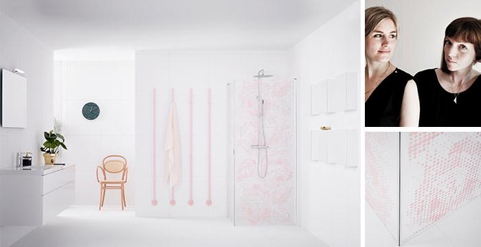 Broderi design badrum