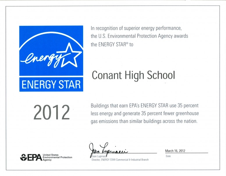 Energy Star Certificate