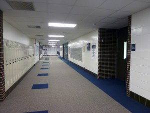Lockers will be removed from the main entrance and offices to increase student safety and update the building.