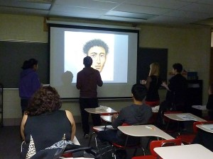 Students play a review game in AP Art History at SHS.