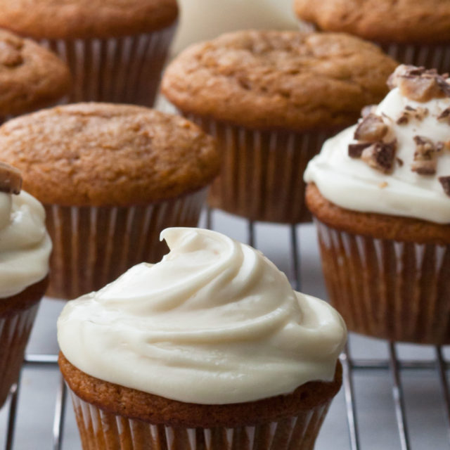 Pumpkin Spice Cupcakes with Maple Frosting   Barefoot