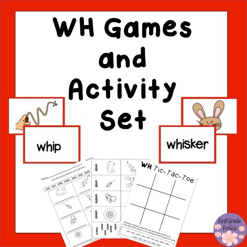 small resolution of WH Games and Activity Set from First Grade Frolics
