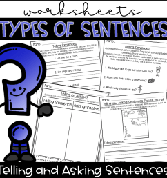 Types of Sentences Worksheets- Telling and Asking Sentences from Kinder Pals [ 1152 x 1152 Pixel ]