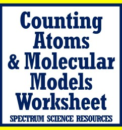 Counting Atoms Worksheet from Flying Colors Science [ 1152 x 1152 Pixel ]