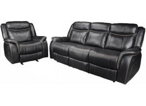 20207 black reclining sofa love seat