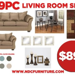 Living Room Furniture Newark Nj Decor Ideas Gray Ndc Stores 19pc Package