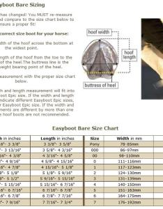 Size chart also easyboot bare horse boot horseloverz rh