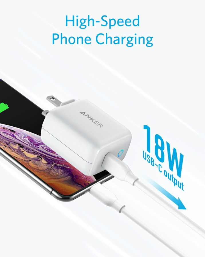 Anker PowerPort PD1 18W Power Delivery USB-C Wall Charger 4