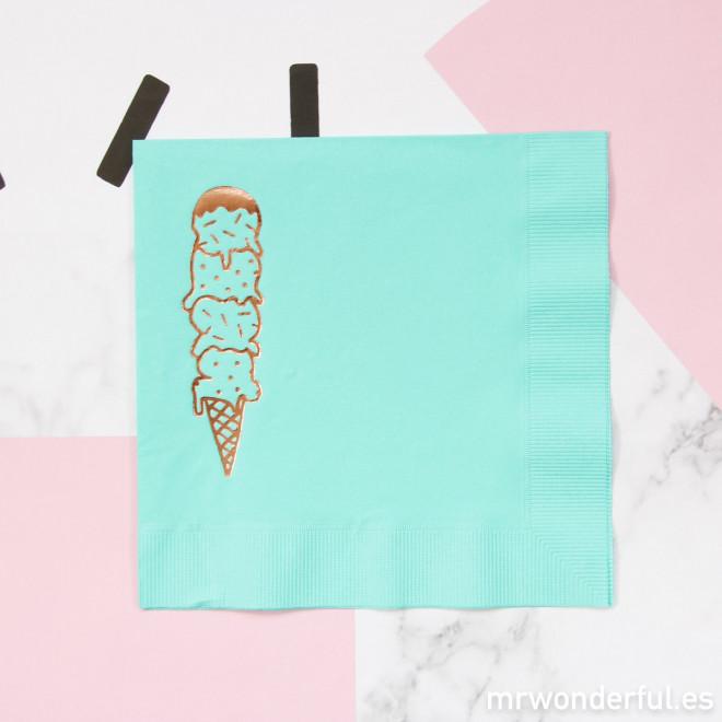 Serviettes Papier Couleur Mint Ice Cream Mr Wonderful