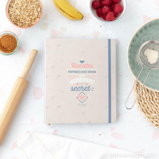 livre de recettes preparees avec un ingredient secret toi