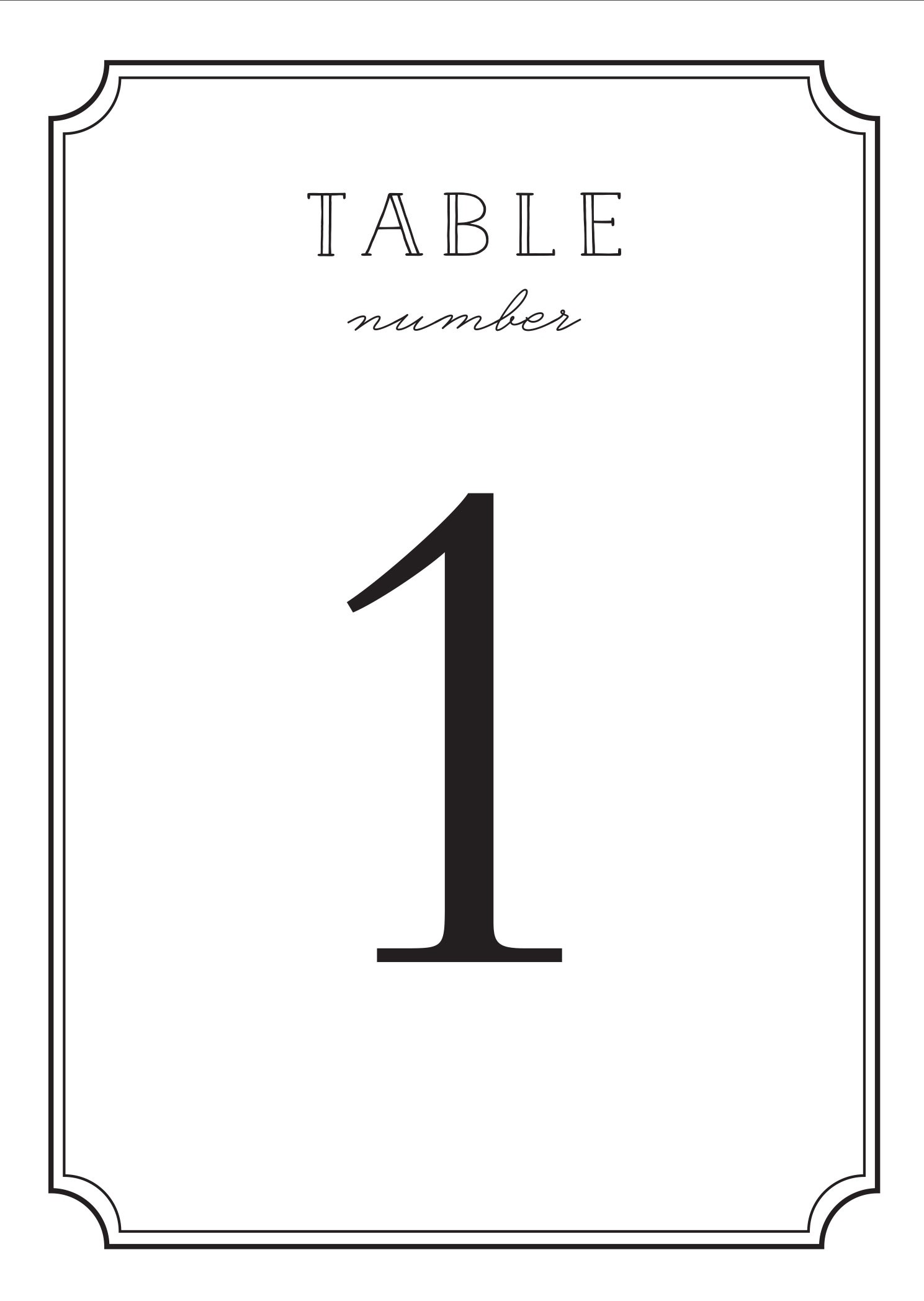 Type Frame Table Number Printables By Basic Invite