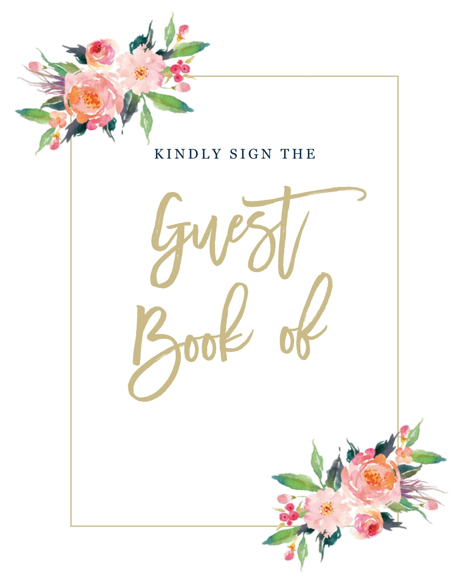 Standing Ovation Guest Book Sign Printable