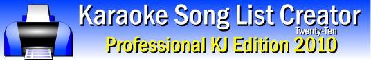 Download Karaoke Song List Creator Free Edition 2014