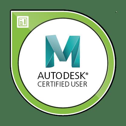Autodesk Certified User Maya Image