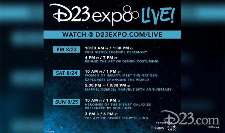 D23 Expo Schedule