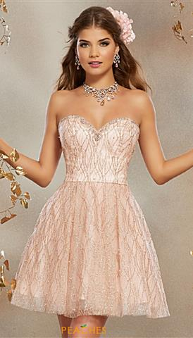 rose gold prom dresses