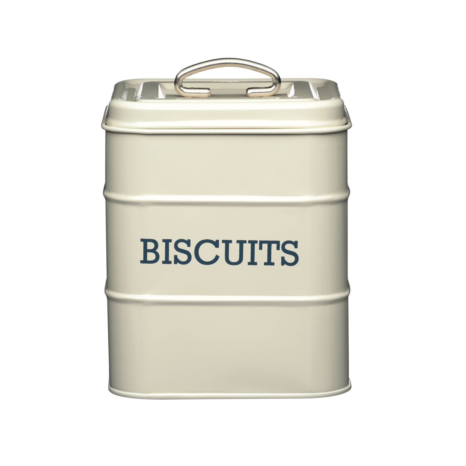 kitchen tool set counter top table sets living nostalgia antique cream biscuit tin | storage ...