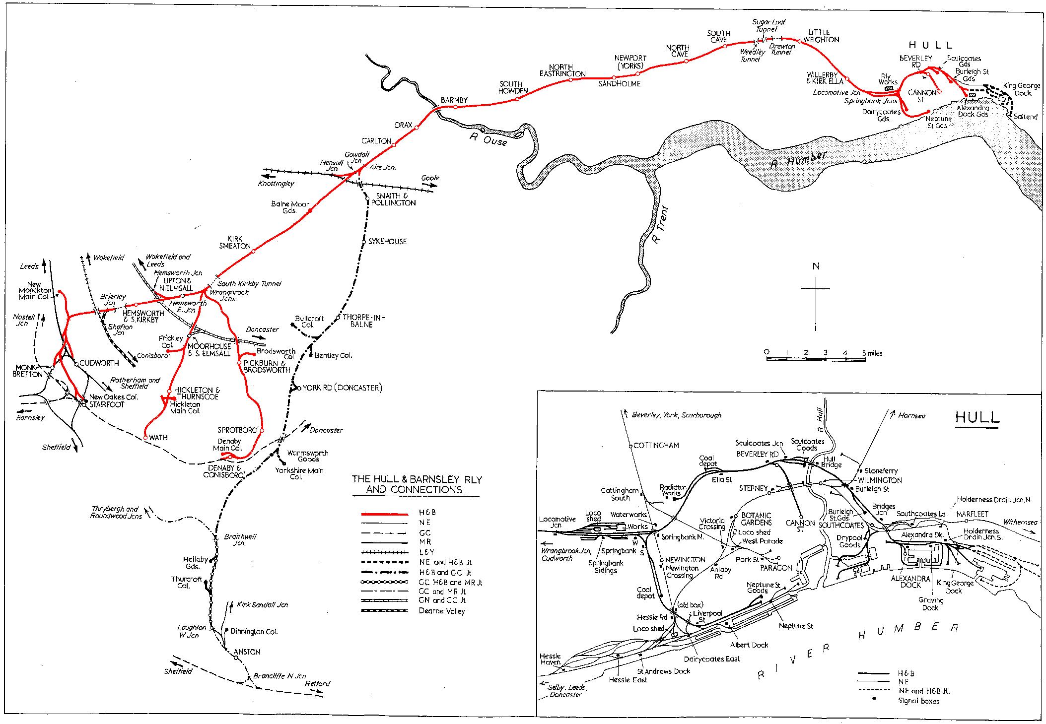 Lner Encyclopedia The Hull And Barnsley Railway