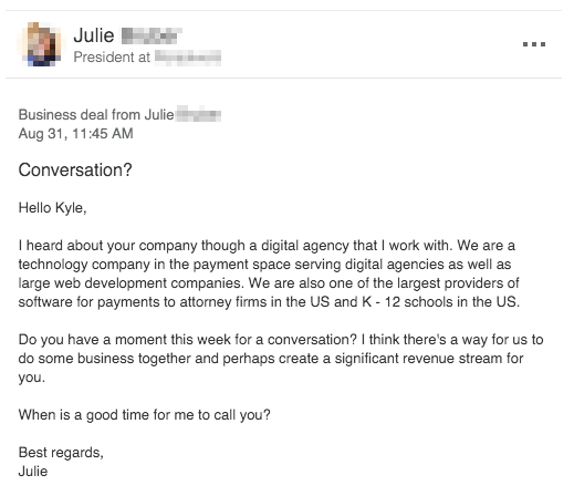 The Best Cold Email I Ever Received And How To Steal His