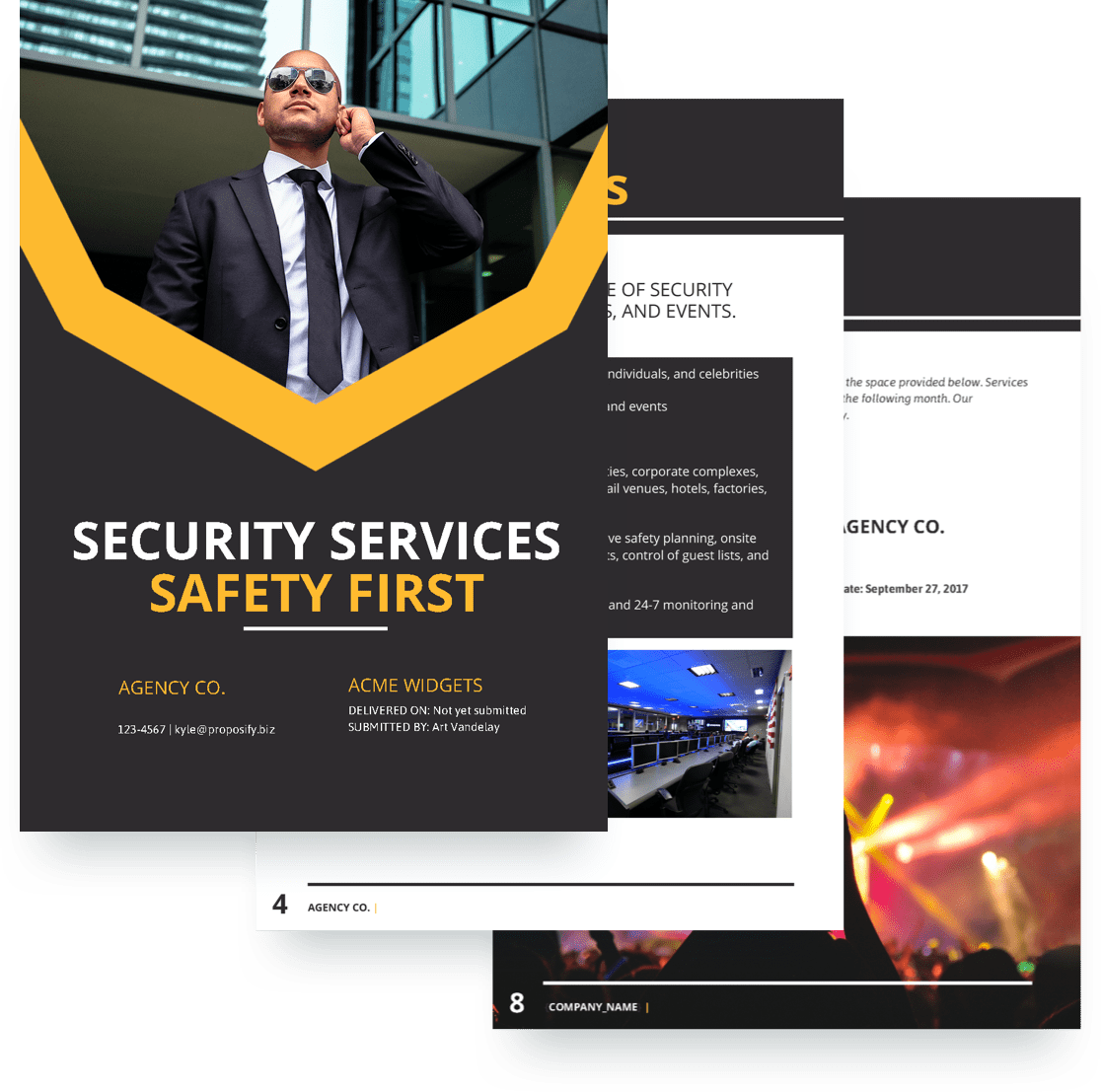 Ship Security Guard Cover Letter Security Proposal Template Free Sample Proposify