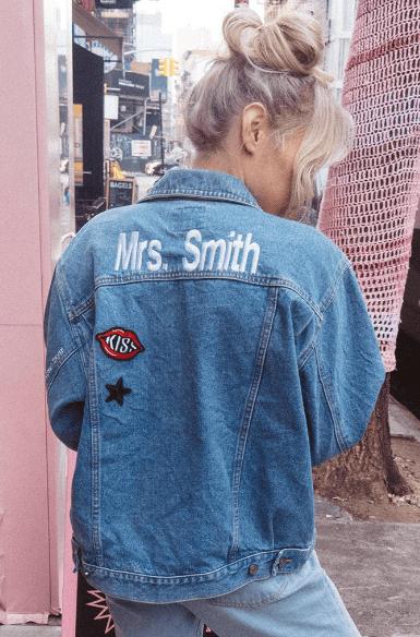 Shop Betches Unemployed Denim Custom Jacket
