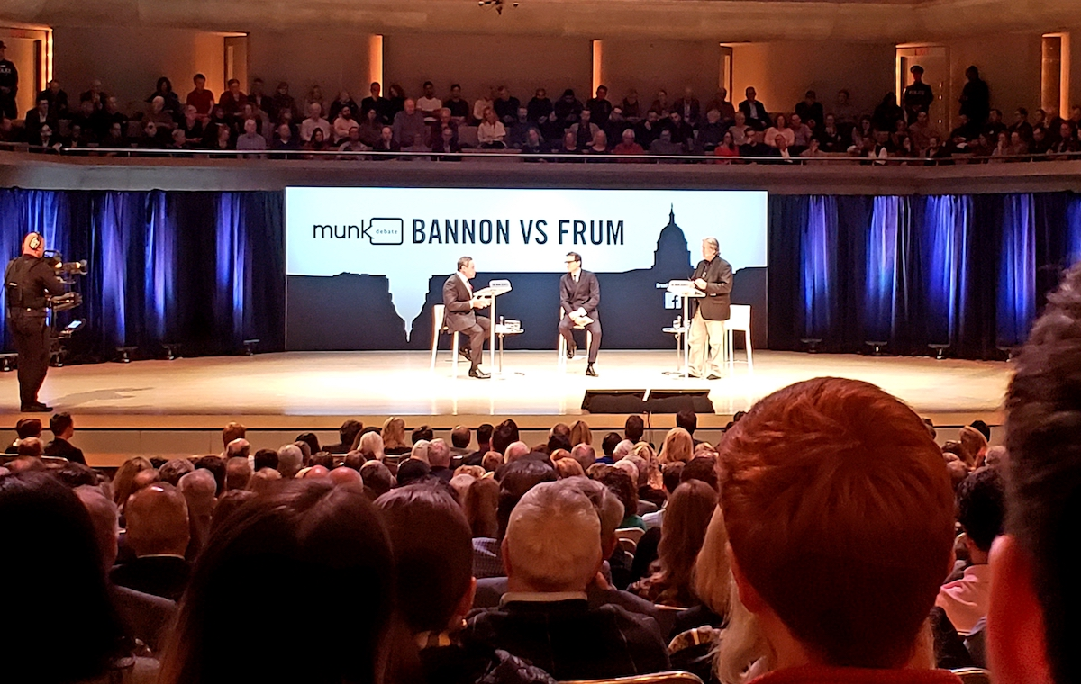 As a Toronto Mob Brays, David Frum and Steve Bannon Joust