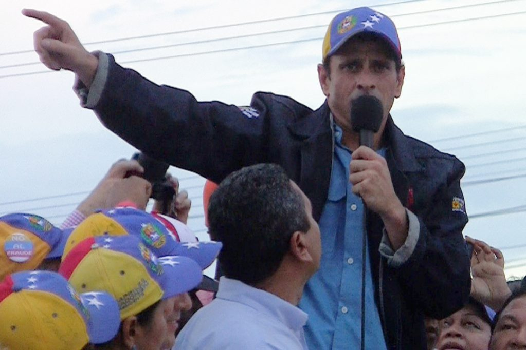 6981a4b3c53 Henrique Capriles addresses the crowd at a May Day worker s celebration in  Guayana