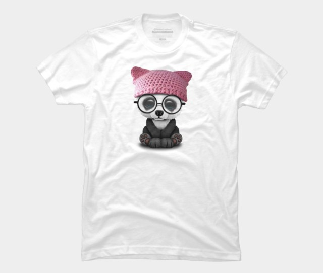 Cute Baby Panda Wearing Pussy Hat T Shirt By Jeffbartels Design By Humans