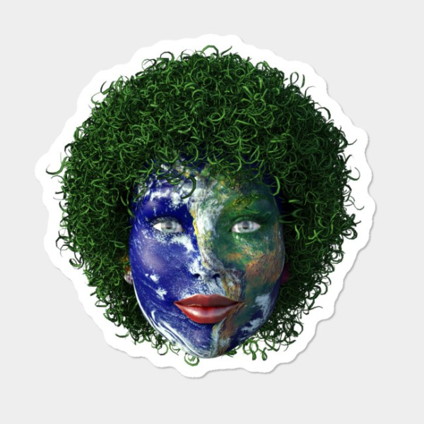 Mother Nature Face Of The Earth Sticker By CMGlobal