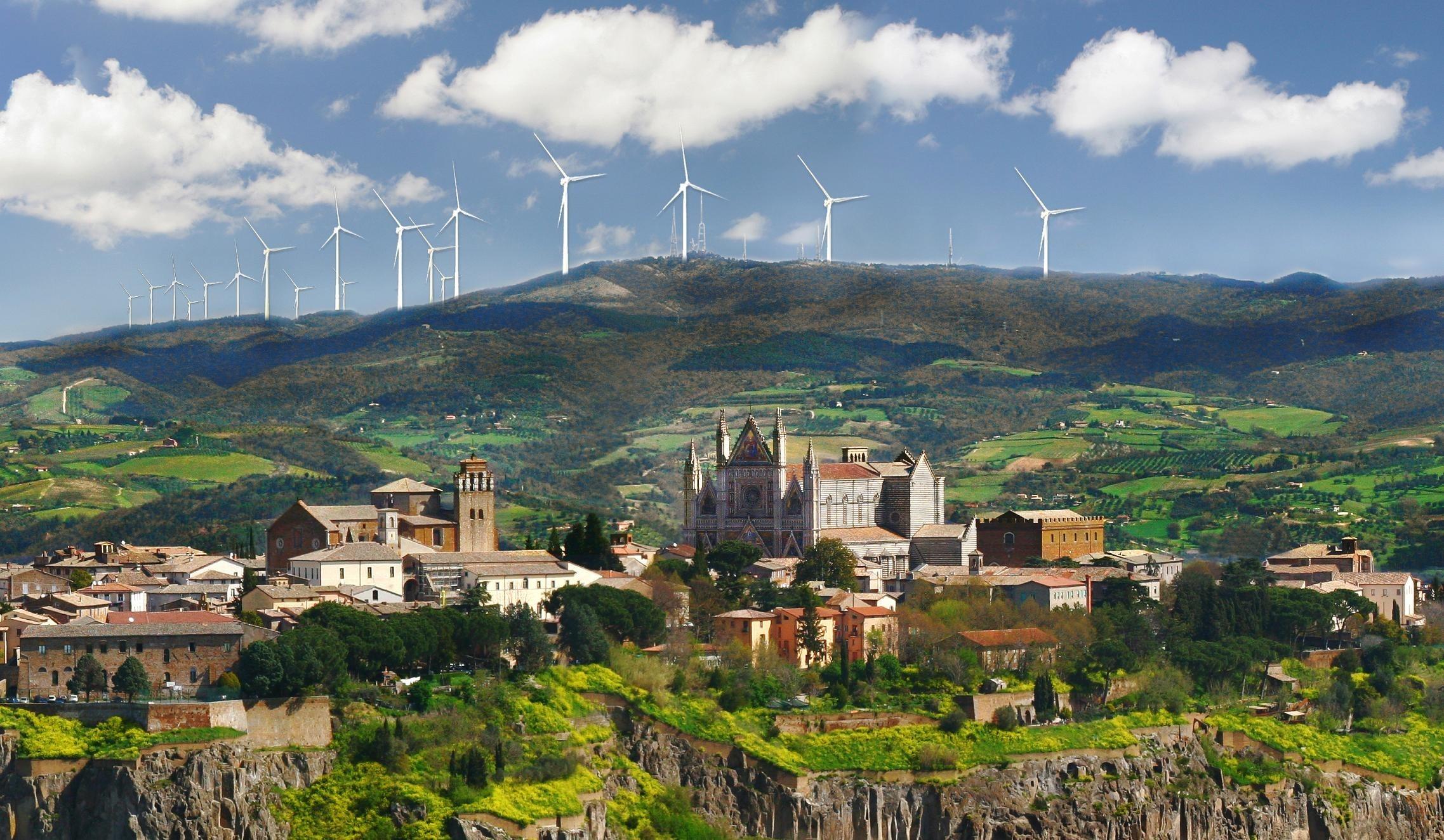 Eolico attorno al Duomo di Orvieto  WWF Italy