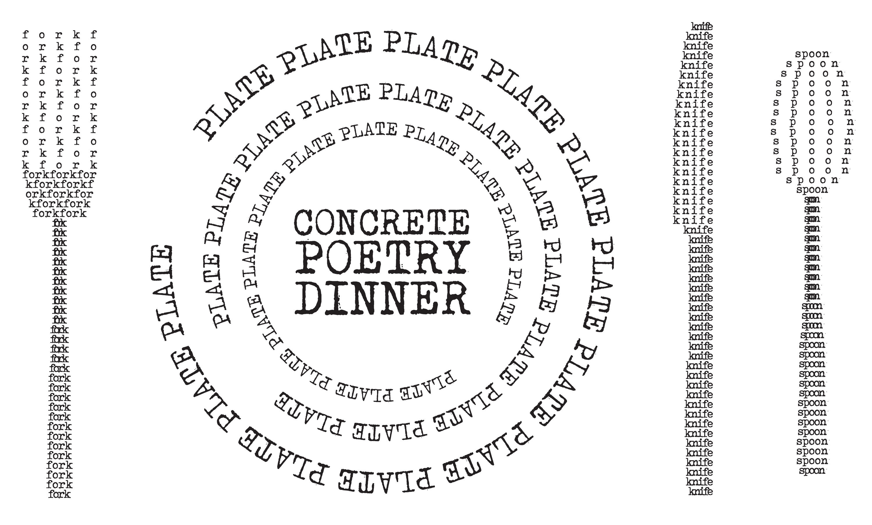 The Standard & EXILE Books Present: Concrete Poetry Dinner