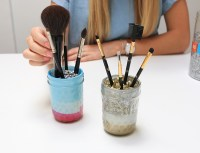 DIY: Mason Jar Makeup Brush Holders - Inspired By This