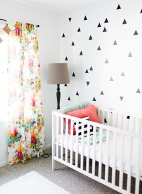 Black, White, & Coral Baby Girl Nursery - Inspired By This