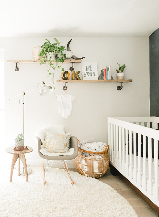 Modern Smoke Mural Nursery for a Baby Boy  Inspired By This
