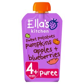 ellas kitchen baby food sink soap dispenser bottle ella s organic sweet potatoes pumpkin apples and blueberries food120g