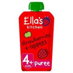 Ellas Kitchen Baby Food Chinese Range Hood Ella S Organic Strawberries Apples Stage 1 Food120g