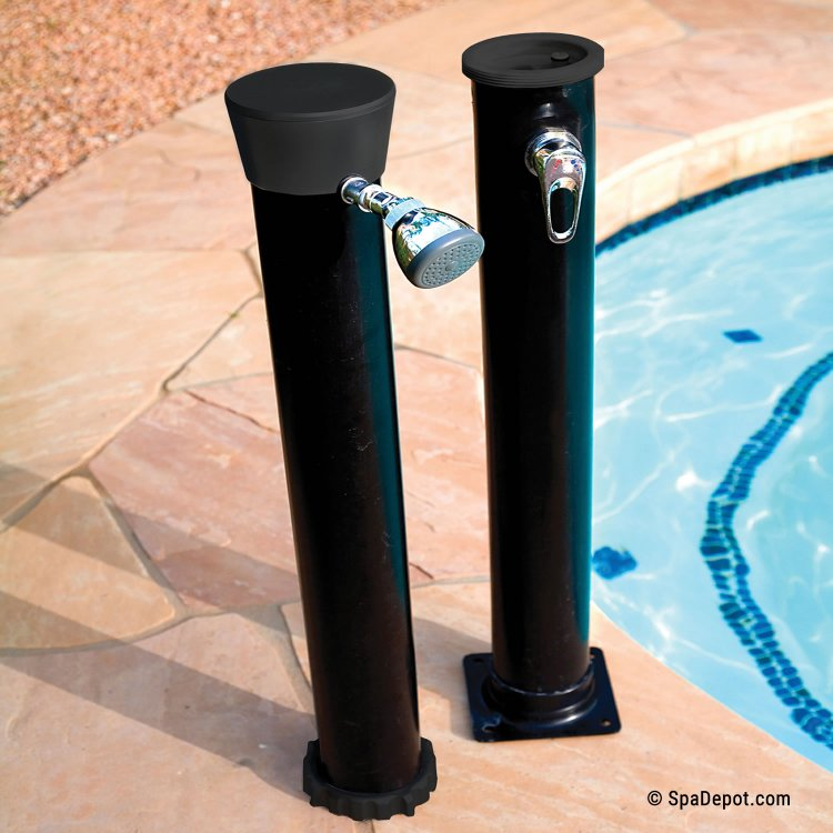 Outdoor Solar Shower with 4 Gallon Hot Water Storage