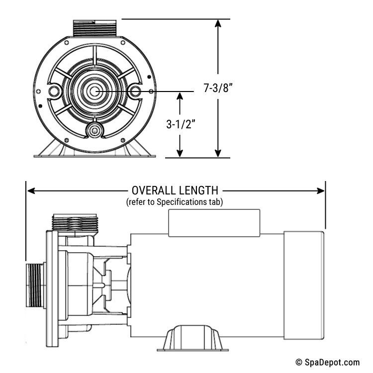 3/4 HP Spa Pump: 1.5