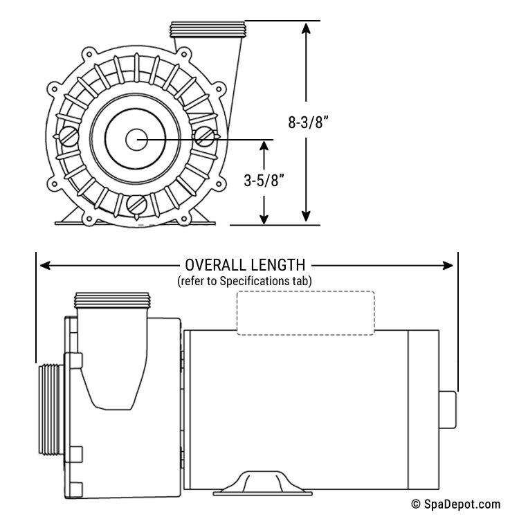 1.5 HP Spa Pump: 2