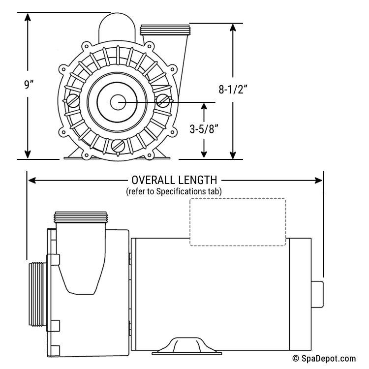 4 HP Spa Pump: 2.5