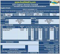 Download GST Export Invoice Format In Excel Under GST ...