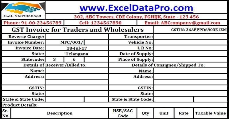 transporter invoice format