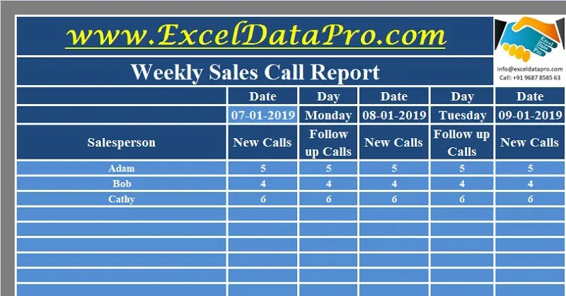 These free samples are in word, excel or pdf format. Download Daily Sales Report Excel Template Exceldatapro