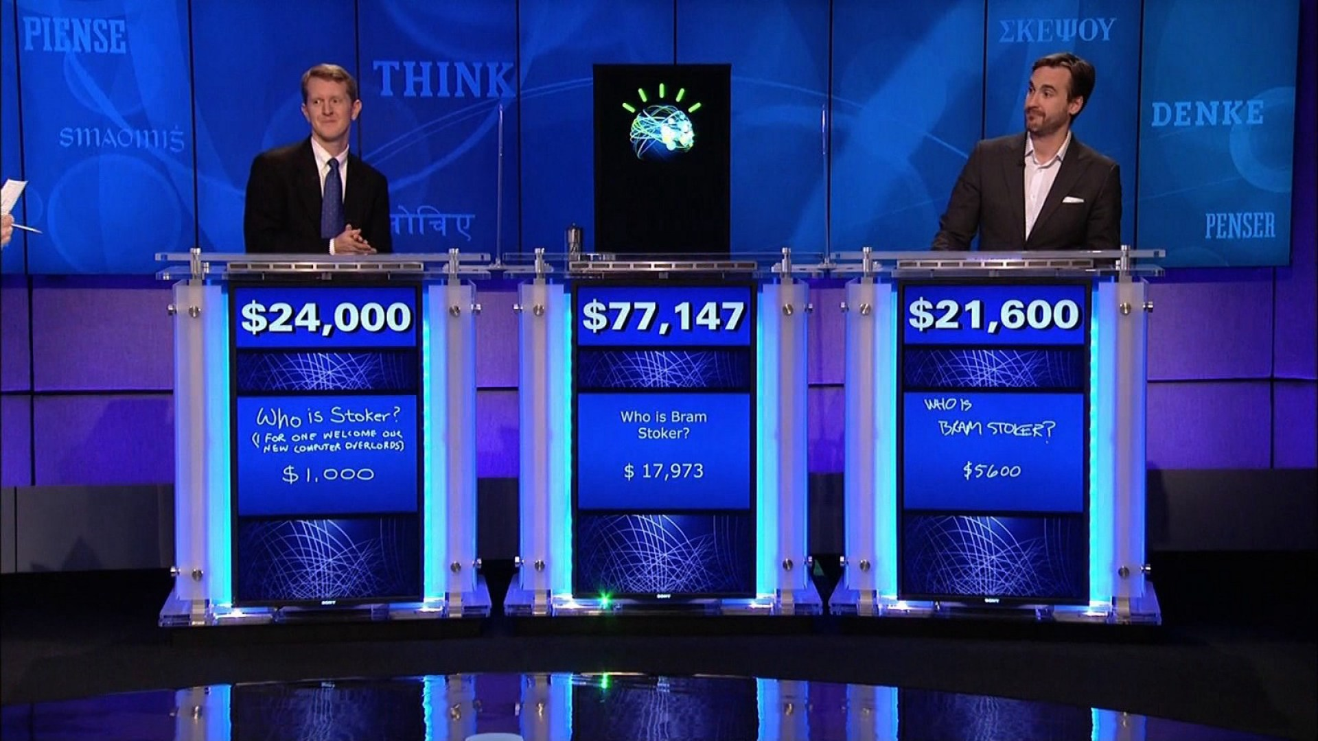 The Watson computer on the gameshow, Jeopardy. Credit: IBM