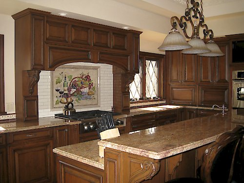 wood mode kitchen cabinets tin backsplash brookhaven cabinetry rhinebeck bath