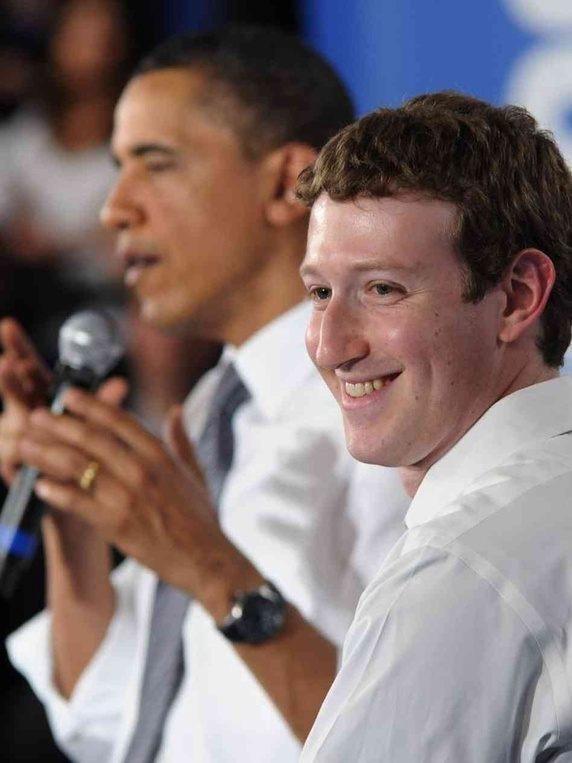 Mark Zuckerberg dan Barack Obama | Image