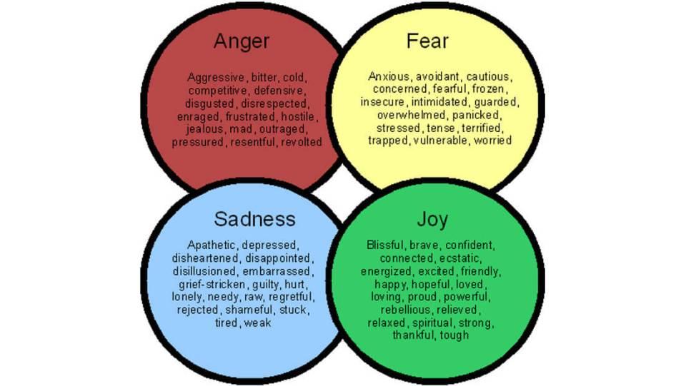Emotional Marketing   Basic Emotions Diagram