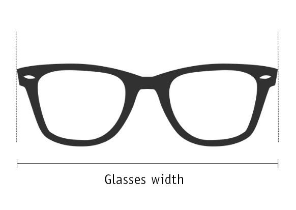 glasses width