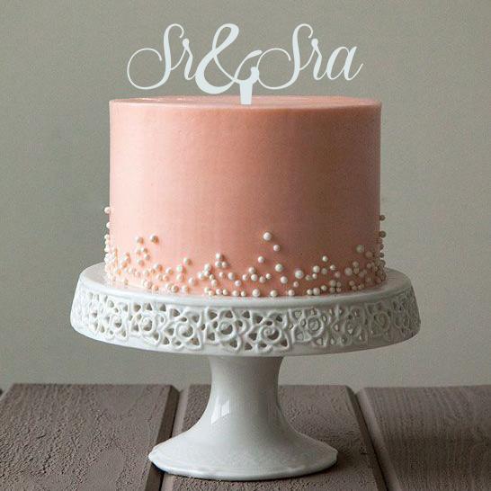 Topper para torta  Sr  Sra  Ohlal Celebraciones